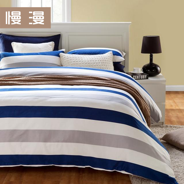 Attractive Textile 100% Cotton Navy Stripe Piece Set 100% Cotton Duvet Cover Bed Sheets  Fashion Spring And Summer Bedding In Bedding Sets From Home U0026 Garden On ...