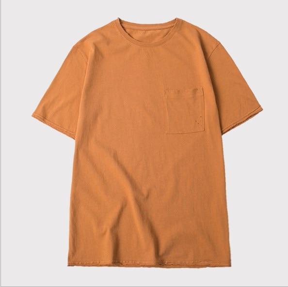 2018 летняя новая однотонная повседневная мужская Свободная футболка с короткими рукавами tide TX