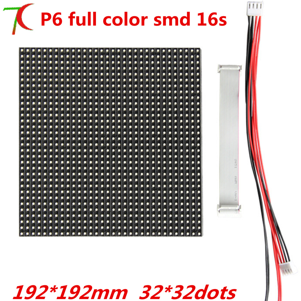 P6  Indoor SMD Stick On The Wall 16scan Full Color Module,192*192mm