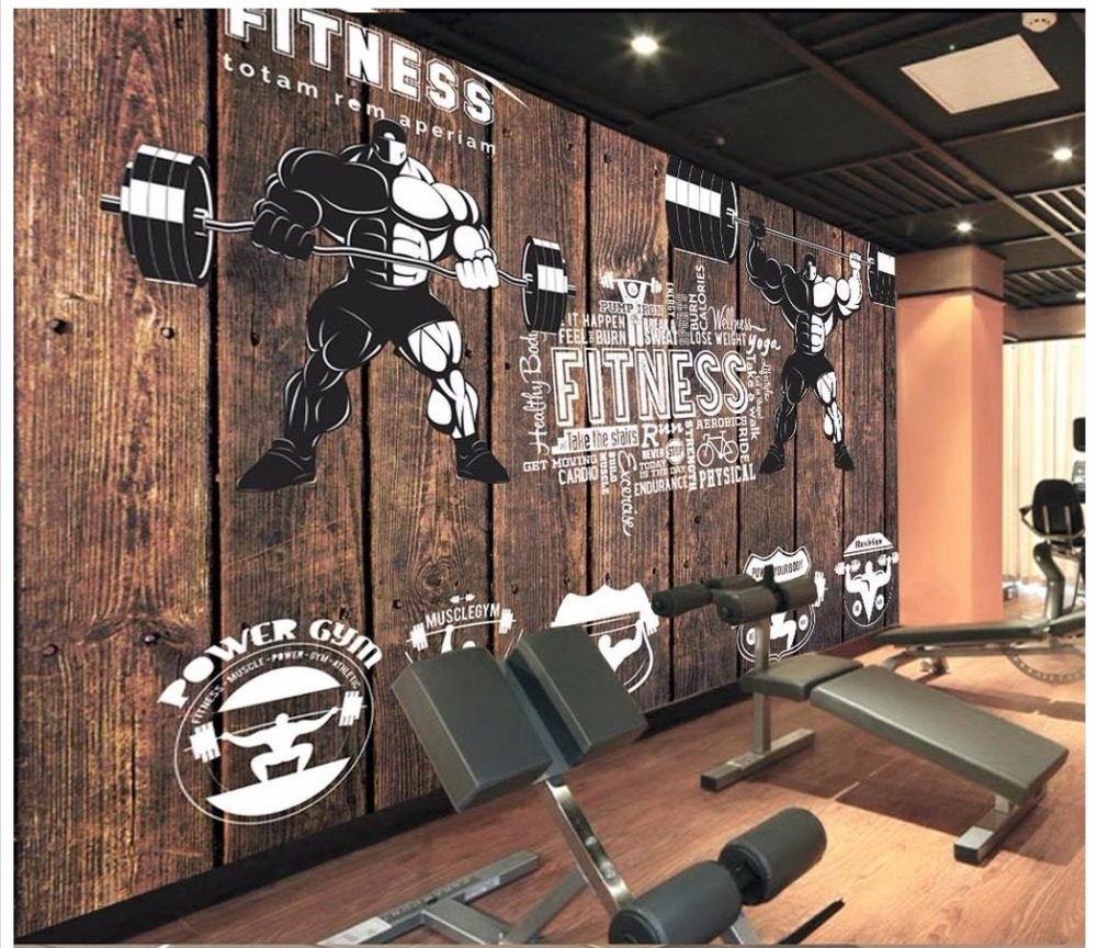 Online Shop 3d Wallpaper Custom 3d Wall Murals Wallpaper Gym Mural