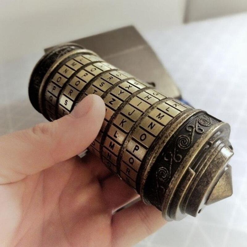 Creative Retro Birthday Valentine Gift Box Cylinder Lock Da Vinci Code Alphabet Lock