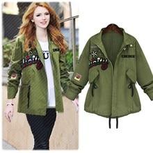 Abrigos Army Green Bomber Jacket Women Basic Coats Autumn Zipper Letter Embroidery Biker Coat Oversized Jackets Chaquetas Mujer