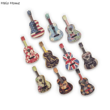 30pcs Guitar/Bass/Violin Wood Fabric Covered Buttons Sewing Scrapbooking Gift Handwork Clothing Home Decor 17-36mm
