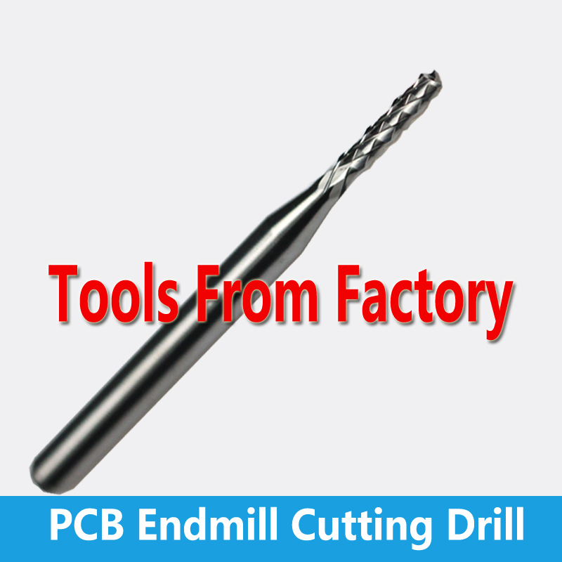 Free Shipping 3.175mm SHK Carbide PCB Engraving Tools Carbide End Milling Cutter  CNC Cutting Drill Hole Endmill