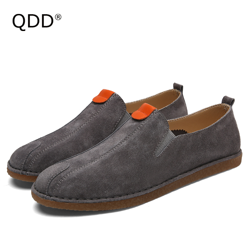 Me Myself Am Wearing & Loving It! Sueded Pig Split Leather Men Walking Shoes, Trendy Men Walking Shoes for Indoor or Outdoor.