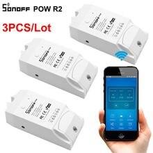 Sonoff Dispositivo de monitoreo de energía Pow R2, interruptor eléctrico de Wifi, 3 uds.