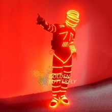 LED Clothes Luminous Clothing Glowing Suits Glove Costumes 2015 Hot Fashion Men LED Pants Dance Accessories Free Shipping
