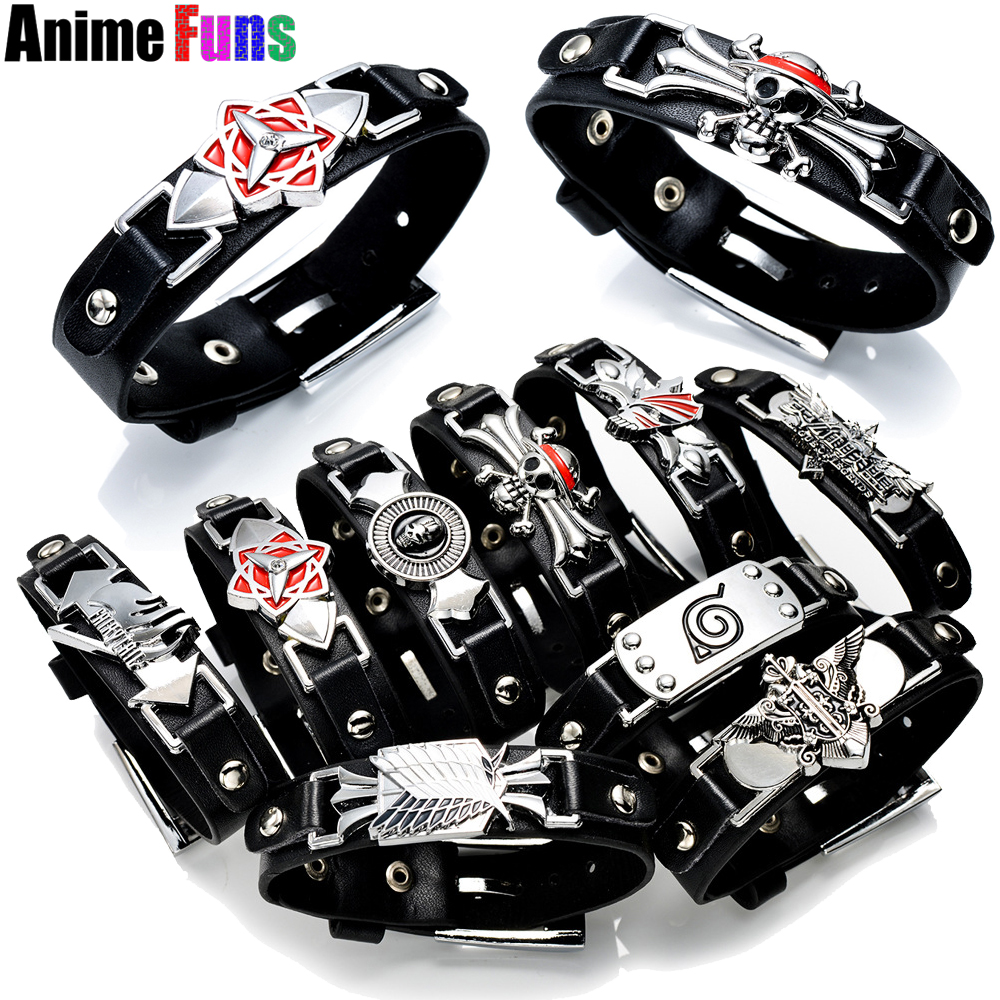 10 Types Game Anime Bracelet One Piece Naruto Black Butler Fairy Tail Bleach Attack On Titan Death Note Lol Cross Fire Bangle To Rank First Among Similar Products