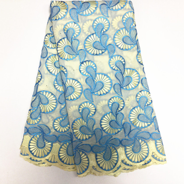 Nigerian Lace Fabrics Top Fashion Hot Sale 2017 Latest Embroidered African Cotton Swiss Lace Fabric,high Quality In Switzerland