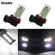 Boaosi 2x автомобиля светодио дный H11 H8 лампочки Авто Противотуманные фары дальнего света для Chevrolet Cruze Camaro Sonic Spark Equinox 2013-2015