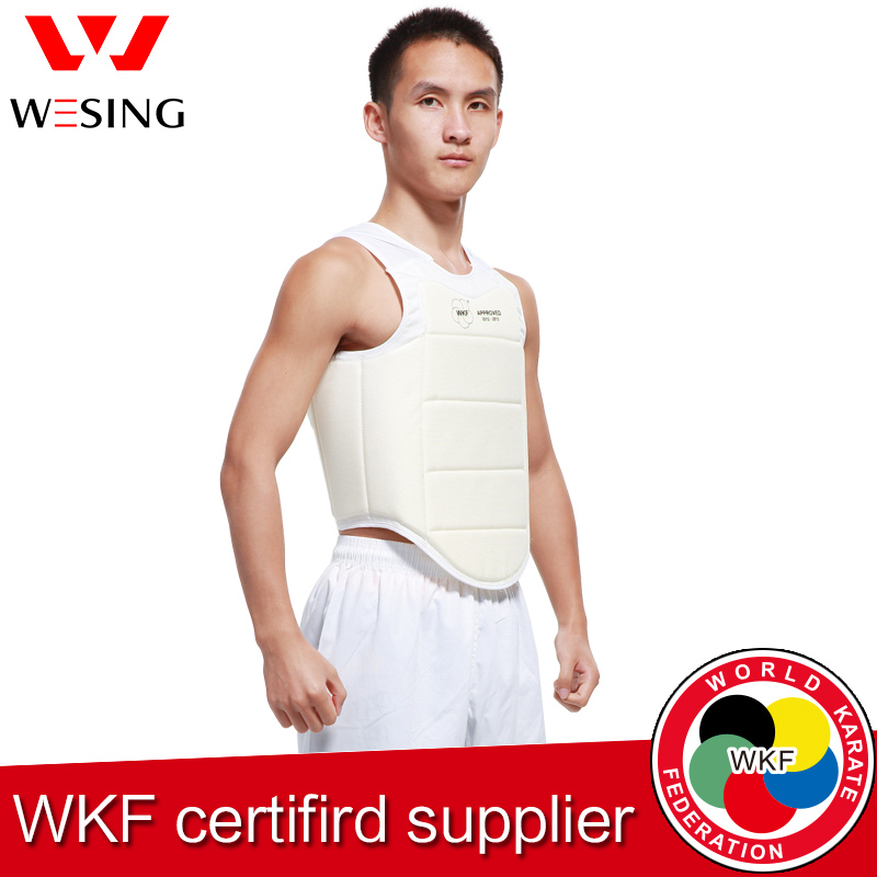 ФОТО Wesing men  WKF AKF  approved  karate chest protector boxing chest guard for training