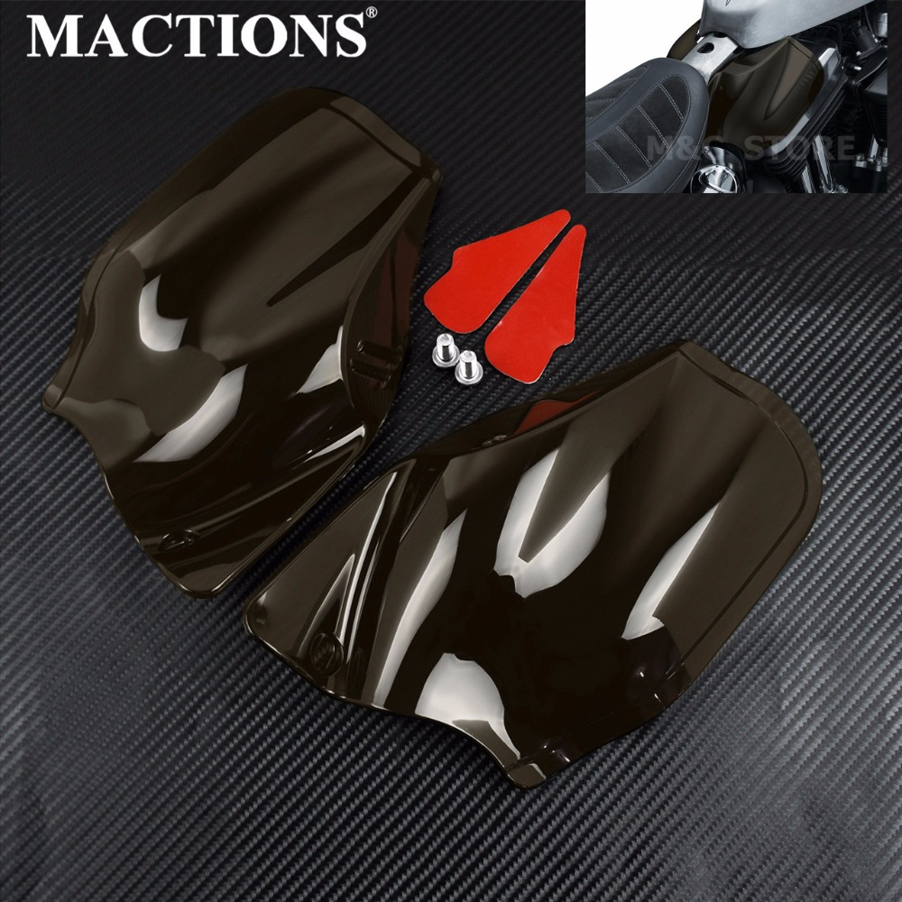 Motorcycle Reflective Saddle Shields Air Heat Deflector Smoke For <font><b>Harley</b></font> Sportster <font><b>Iron</b></font> <font><b>883</b></font> 1200 Forty Eight XL1200 2014-2019 image