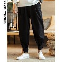 Sinicism Store Men Thicken Wool Harem Pants 2018 Mens Casual Solid Black Joggers Pants Male Japanese Trousers Hiphop Sweatpants