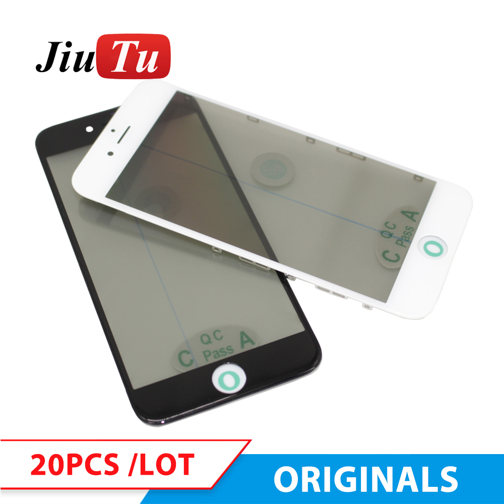 Original 4 in 1 Cold Press Front Screen Outer Glass with Frame OCA Polarizer For iPhone