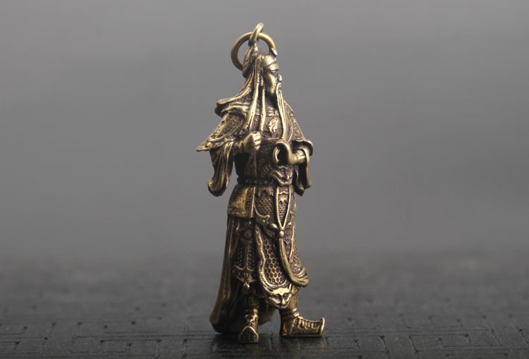 Guan Gong Statue Keychain Pendants  (11)