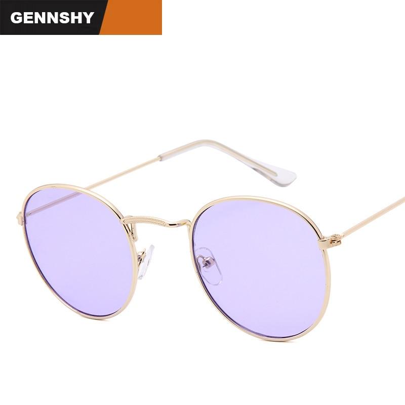 2017 gafas de sol redondas mujeres retro diseñador de la marca de - Accesorios para la ropa - foto 1