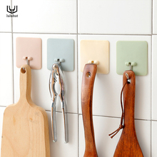luluhut 3pcs/lot hooks and rails colorful wall hangers strong power sticky hooks housekeeper hooks for hanging keys toys