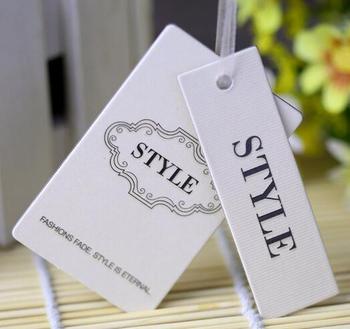 free die cut Custom price garment hang tag printing 400gsm paper clothing swing garment tag print your design