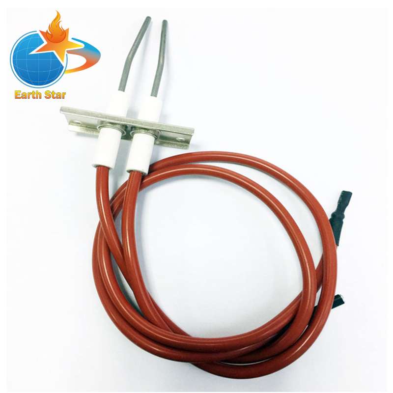 Kitchen Equipment catering gas stove Double Ignition electrode High spark igniter wire length 450mm high temperature resistance ceramic camping stove ignition gun asseccories ignition piezo igniter