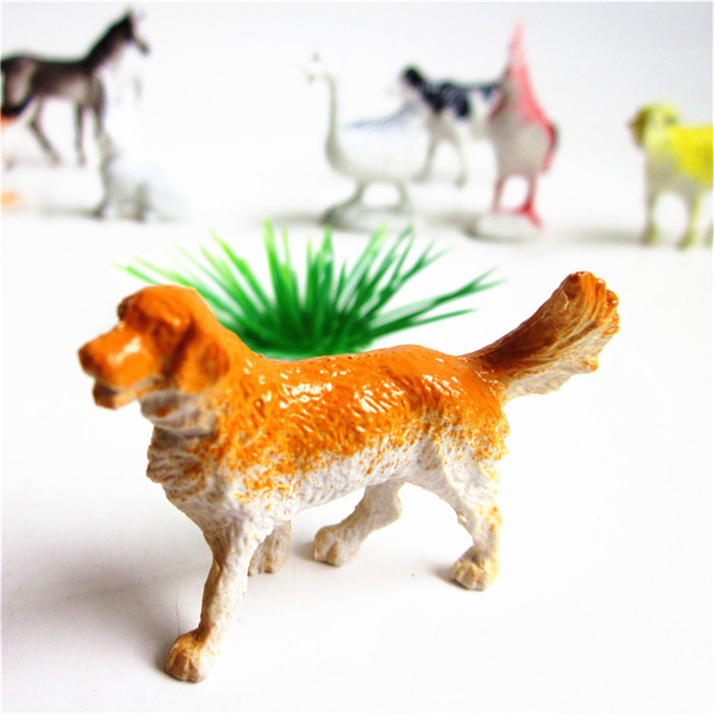 Toys modelli animali da fattoria CASA REGALO 6 PZ BIG IN PLASTICA PECORA MUCCA CAVALLO MAIALE PER CANI