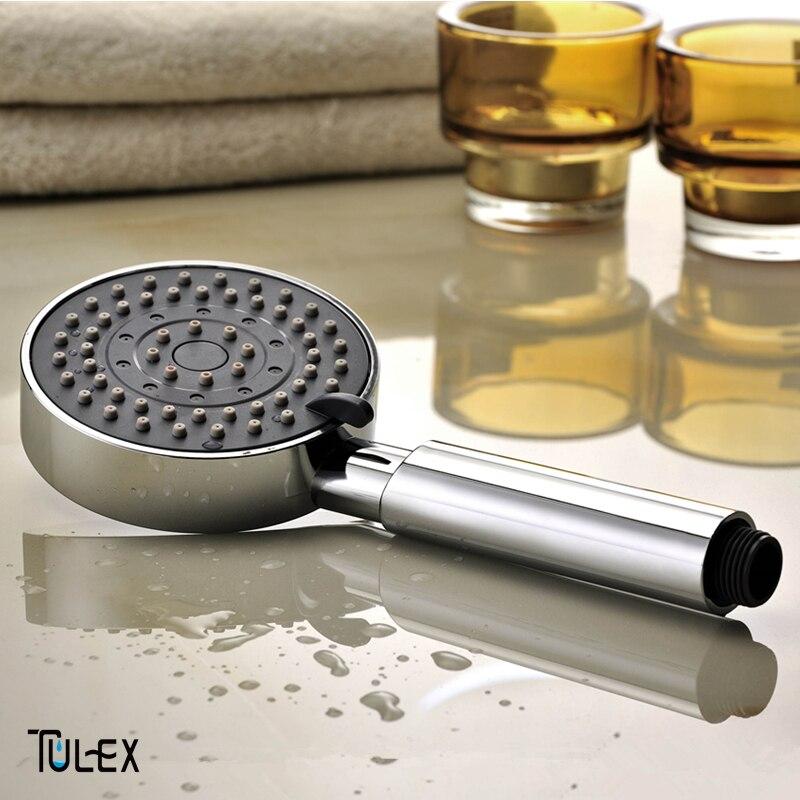 Tulex Douche Tête Trois Mode La Douche D'économie D'eau ABS Avec Chrome Plaqué Salle De Bains Main Attente Douche