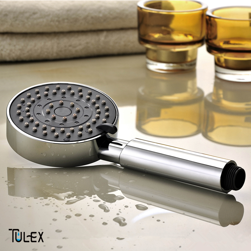 Tulex Shower Head Three Mode Showering Water Saving ABS With Chrome Plated Bathroom Hand Hold Shower