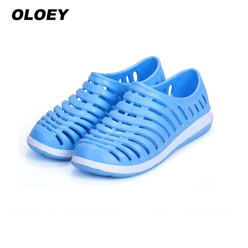 Открытый сандалии 2018 летние мужские сандалии прогулочная обувь Для мужчин aqua шлепанцы для Плавания для спорта на открытом воздухе воды кро... ...