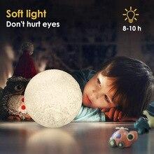 3D принт 16 Цвета изменить Дистанционное Управление Спальня лунный светильник Декор для дома подарок для детей Новинка Светодиодный ночной Светильник Луна лампы для детей