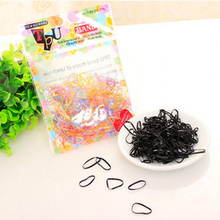 ФОТО high elastic hair bands black / multi color 150pcs in a pack women girls children hair bands and accessories