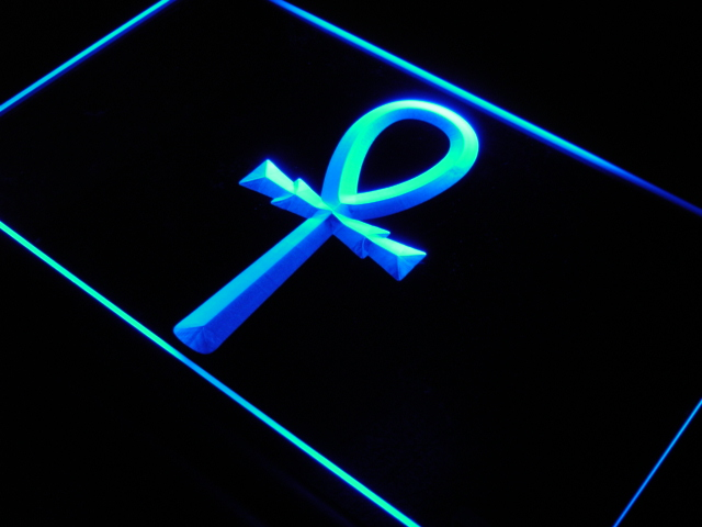 i890 Egyptian Ankh Hieroglyphic Decor Neon Light Sign On/Off Swtich 20+ Colors 5 Sizes