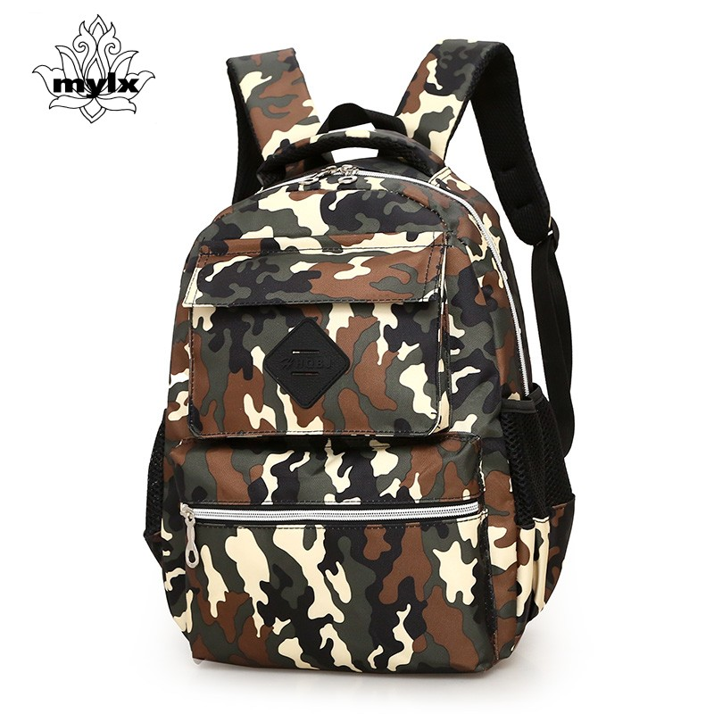 Military enthusiasts camouflage nylon backpack A primary school pupil's school bag Preppy style travel bag for women leisure bag primary school students school bag 3 6 candy color preppy style backpack