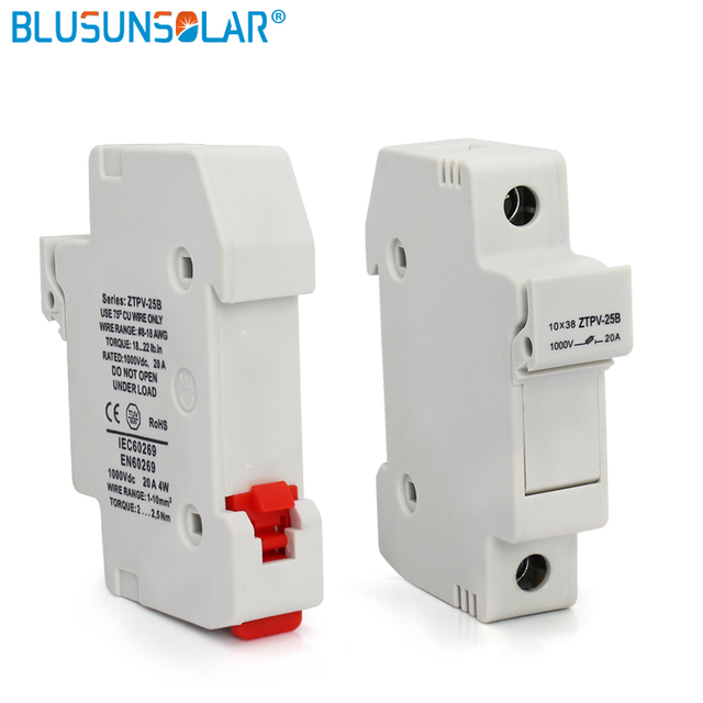 new arrival 1000v dc solar pv fuse box fuse holder with 15a fuse rh aliexpress com