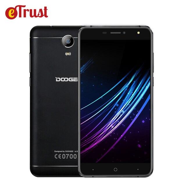 Doogee x7 pro 4 г мобильный телефон 6.0 дюймов hd mtk6737 quad core Android 6.0 2 ГБ RAM 16 ГБ ROM 8MP Камера 3700 мАч Батареи Металлический Каркас