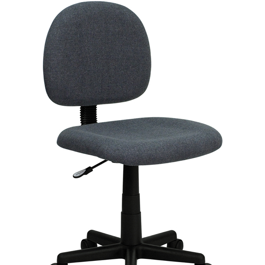 Flash Furniture Mid-Back Ergonomic Gray Fabric Task Chair [863-BT-660-GY-GG] ...