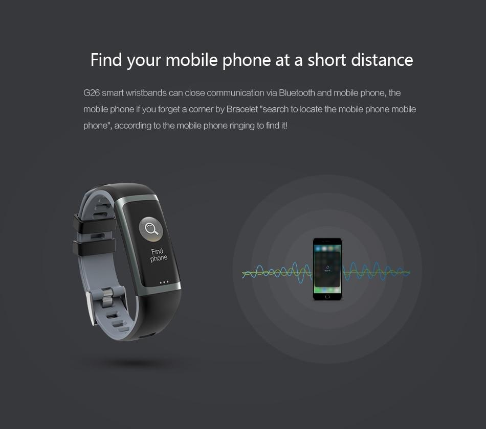 Cerreat G26 Smart Band IP67 Waterproof Heart Rate Fitness Tracker Smart Bracelet with Blood pressure oxygen monitor Color Screen (7)