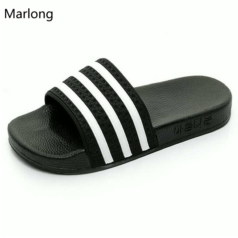 2016 Candy Colors Summer Women Men Brand Flip Flops Femmes Sandals Womens Massage Beach Slippers Black