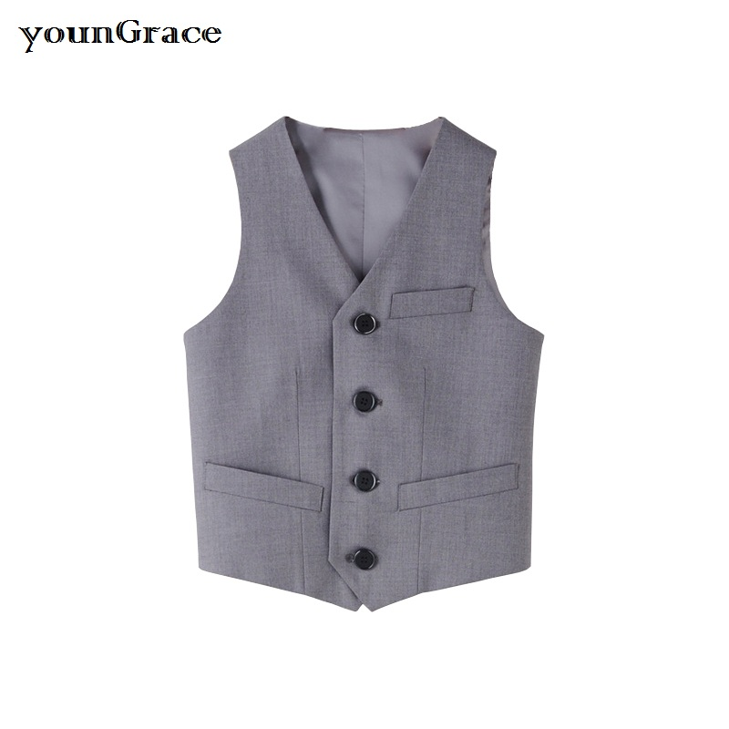 New Arrival Boys Formal Vest 2016 Brand England Style Gentle Boys Wedding Waistcoat Kids Party & Performance Vest for Boys, C256