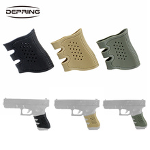 Tactical Glock Pistol Rubber Grip Sleeve Cover Anti Slip for Stretch 17 19 20 21 22 23 25 31 32 34 35 37 38 41