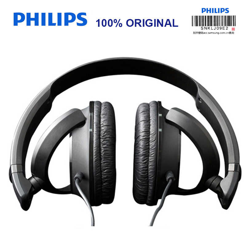 Original Philips Wired Headphone SHL3060 Bass 3 5mm Adjustable Headband  Music & Movie For Galaxy 8/8+ Official Certification