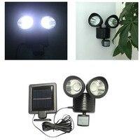 Dual Security Detector Solar Spot Light Motion Sensor Outdoor 22 LED Floodlight HOT