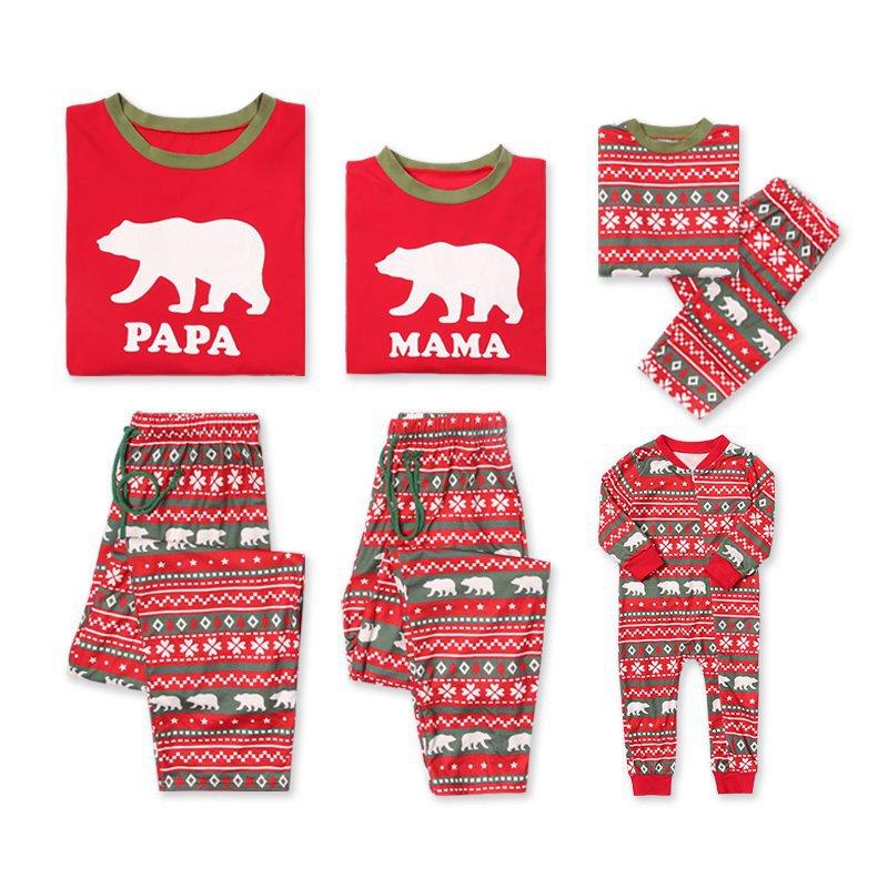 2018 New Winter Baby Pyjamas Parent Child Suit Family