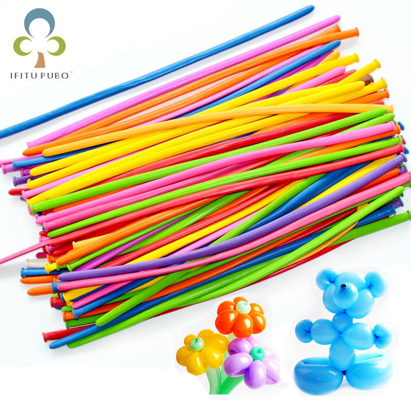 50pcs/lot Mix Color Balloons Wedding Birthday Party Decoration Magic Balloons Kids Baby Assorted Latex Long Air Globos Toys Home & Garden