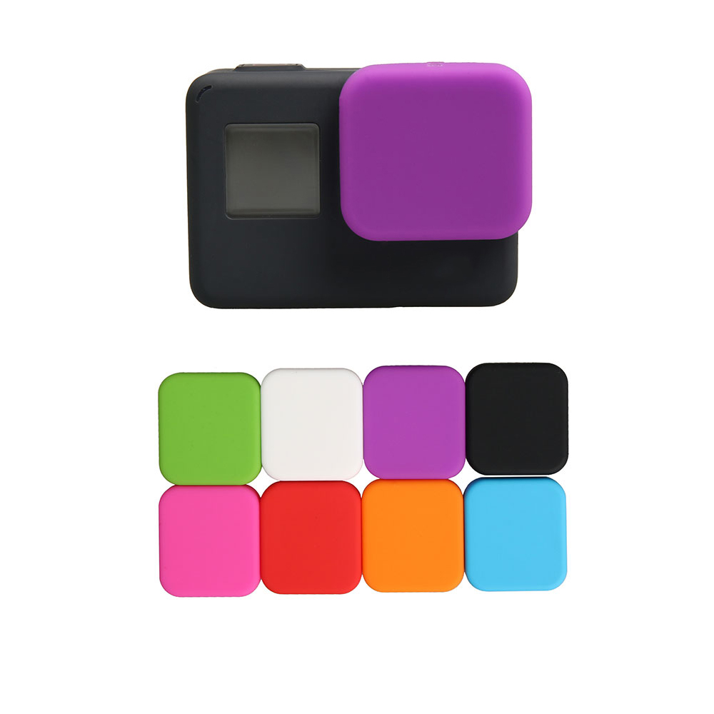 Image 3 - For Go Pro Accessories Action Camera Case Protective Silicone Case Skin +Lens Cap Cover For GoPro Hero 5 6 7 Black Hero Camera-in Sports Camcorder Cases from Consumer Electronics