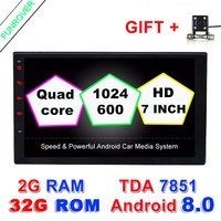 2 Two Din 7 Inch Android 6 0 In Dash Universal Car Radio Player No Dvd
