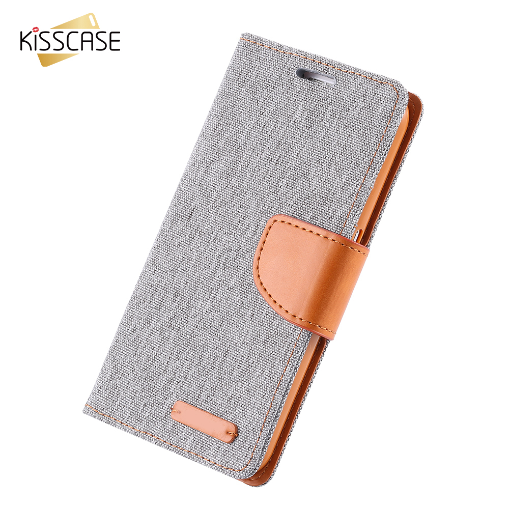 KISSCASE Cotton Fabric <font><b>Case</b></font> For <font><b>Samsung</b></font> S5 <font><b>S6</b></font> S7 Cloth Skin Silicon Shell <font><b>Flip</b></font> Wallet Bag Cover For <font><b>Samsung</b></font> <font><b>S6</b></font> Edge S7Edge Note5 image