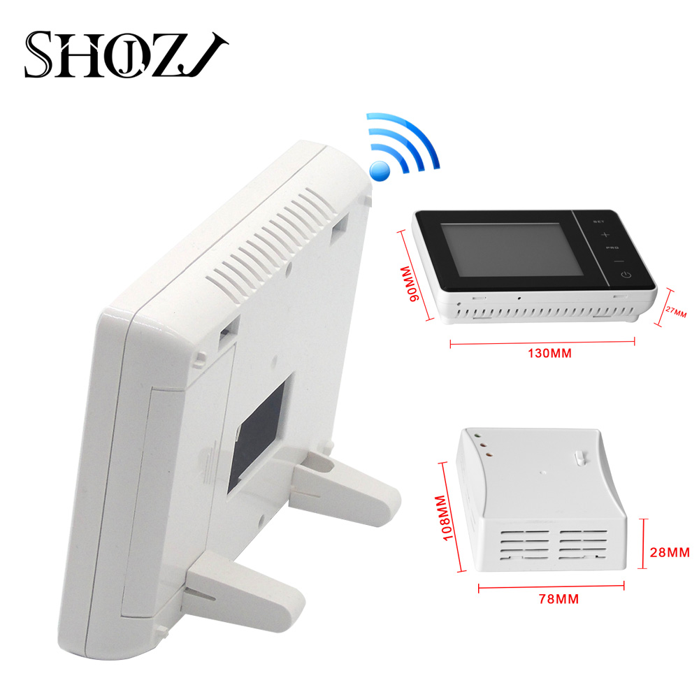 SMART HOME Programble Wireless  Control Of Adjustable Gas Boiler With Receiver RF Transmitter Mounting Plate Thermostat