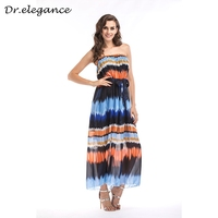 9605876bf Women S Summer Dress Sexy Strapless Dresses Gradient Color Print Boho Dress  Plus Size Holiday Beach. Vestidos das mulheres Vestido de Verão ...