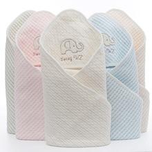 Baby Sleeping Bag Infant Bebe 100%Cotton Muslin Breathable Envelop Swaddle For Newborn Baby Hooded Sleepsack Parisarc Blankets недорого