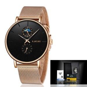 Image 5 - LIGE New Women Luxury Brand Watch Simple Quartz Lady Waterproof Wristwatch Female Fashion Casual Watches Clock reloj mujer 2020