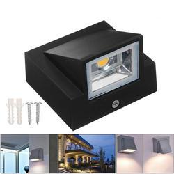5 W IP65 wodoodporna kryty zewnętrzne oświetlenie ścienne Led nowoczesna aluminiowa ciepły biały/zimny biały Led ogrodu ganek światła AC110V/220 V + sterownik w Wewnętrzne kinkiety LED od Lampy i oświetlenie na